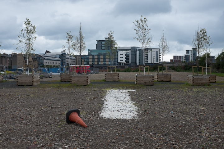 Empty space, Fountainbridge, Edinburgh